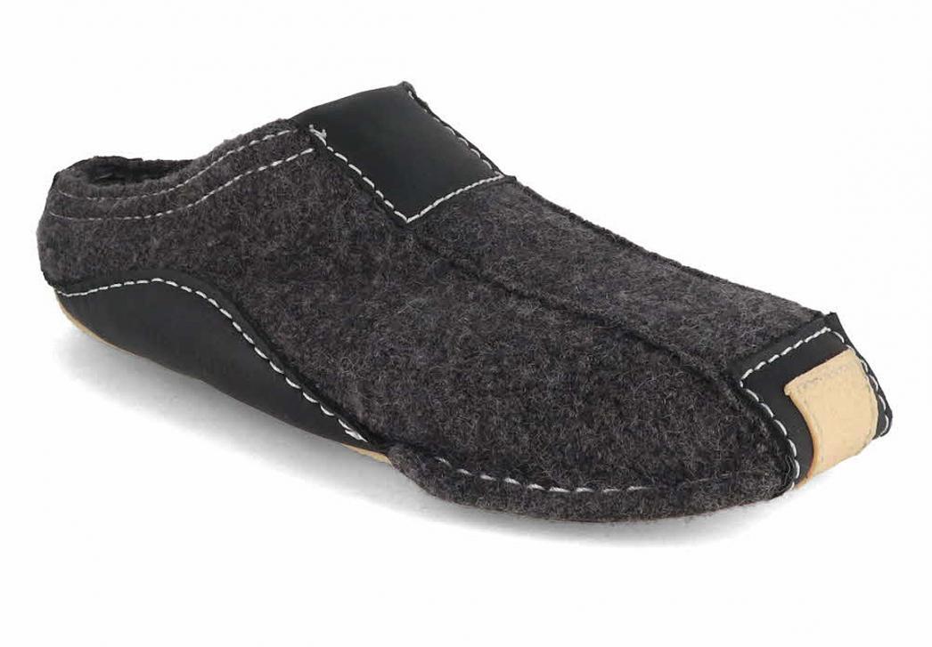 haflinger pantoffeln pocahontas anthrazit. Black Bedroom Furniture Sets. Home Design Ideas