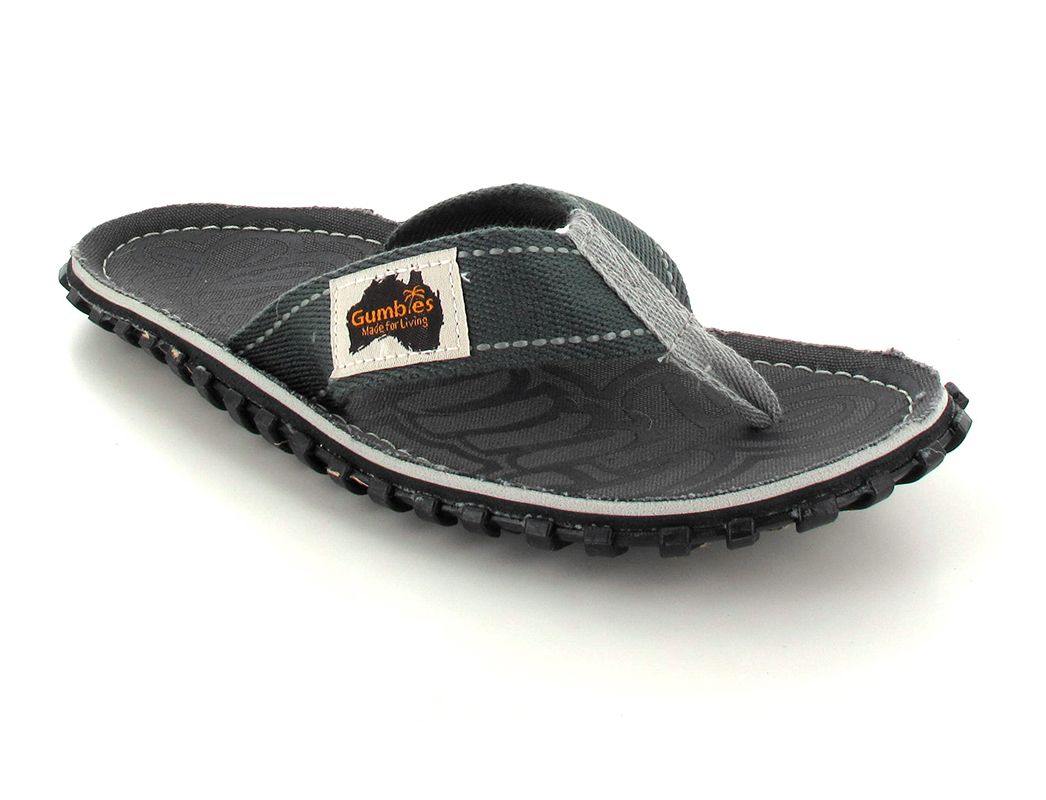 GUMBIES Flip Flops Unisex, Cool Grey, Größe 36
